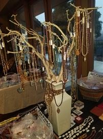 Our (soon to be famous) JEWELRY TREE OF LIFE!!!
