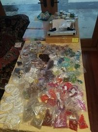 TONS of bags of beads, stones etc..LOTS of jewelry making stuff here!