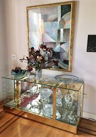 Framed Art - Lighted Glass Cabinet - Crystal - Elegant Glass...