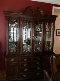 Huge Glass Front Rich's Vintage China Cabinet