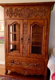 Beautiful LARGE Heavy Country French Carved Armoire/Cabinet