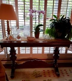 Antique Library Table (Top is damaged, but can be repaired) Price: $75