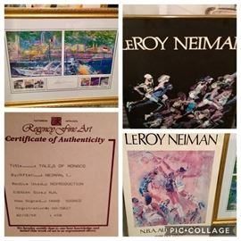 Leroy Neiman THREE Gorgeous Large Prints from Regency Fine Art ONLY the Basketball piece is left- Price: $100
