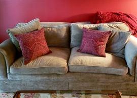 Green Velvet Sofa $200