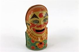 J. Chein Mechanical Clown Bank