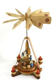 Vintage candle carousel made in East Germany