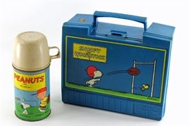 Snoopy lunchbox with thermos from the Peanuts