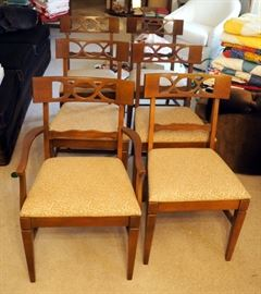 Lenoir Dining Chairs, Qty 6 Includes 1 Captains Chair
