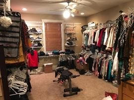 Yes closet full of Designer Boutique clothes...all sizes. Small and medium.  8's 9's 10's