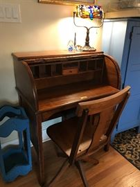 Nice small roll top desk
