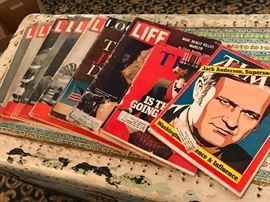 Vintage Time and Life magazines