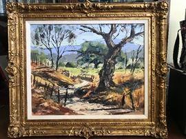 Ben Abril (1923-1995 California) Oil on Canvas