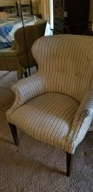 Cute chair with  French-style upholstery