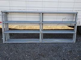 Five 9' and Two 12' Steel Corral Panels
