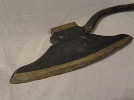 Folk art Odd Fellows style ceremonial ax