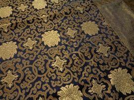 Chinese silk fabric panel/ throw