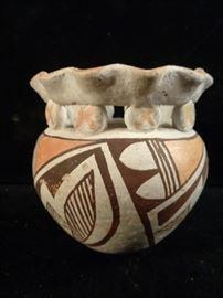 Acoma pueblo pottery vase