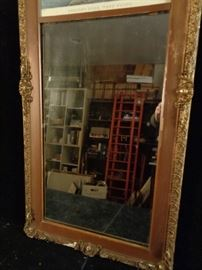 Vintage mirror with print