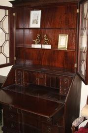 Secretary open to show desk area.