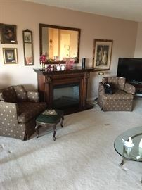 Beautiful electric fireplace. New a few years ago for $1800. Will sell for $600 or b/o. Gorgeous mantle and wood. Remote.