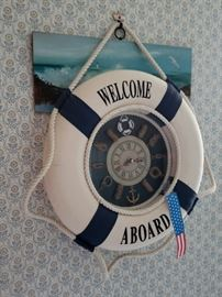 Welcome Aboard wall hanging