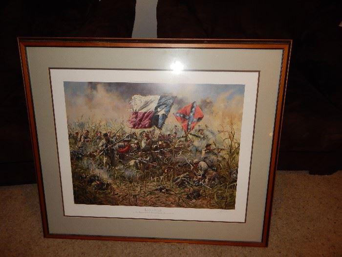 Ltd ed Don Troiani Civil War Print Battle of Antietam, 1st Texas Regiment