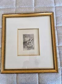 Renoir etching w/COA