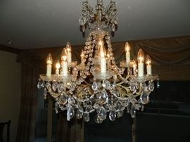 Crystal chandelier.
