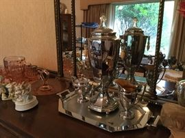 Chrome Art Deco coffee service set