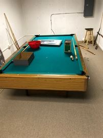 light metal folding legs pool table EASY TO REMOVE! and in great shape