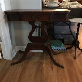 #6 game table with harp base 16-32x32x30  $200.00