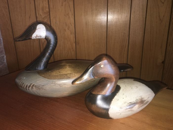 Ducks Unlimited signed decoy ducks