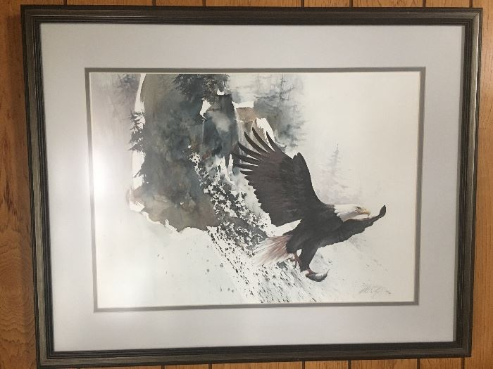 "Morten E Solberg ""On Silent Wings"" framed signed and numbered print"