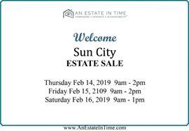 ET 4772a welcome Sun City Estate Sale