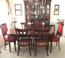 Dining Room Table and Six Chairs