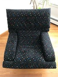 Close up of Saporiti lounge chair