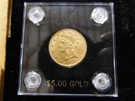1895 $5.00 Gold Liberty coin
