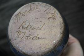 David Meaders Blue Vase