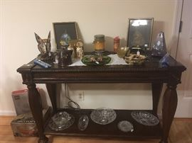 Couch Table, Glassware,Etc...
