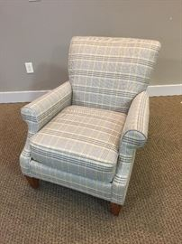 Plaid Lounge Chair