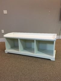 White Storage Bench