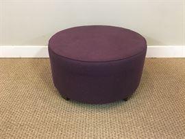 Round Purple Ottoman