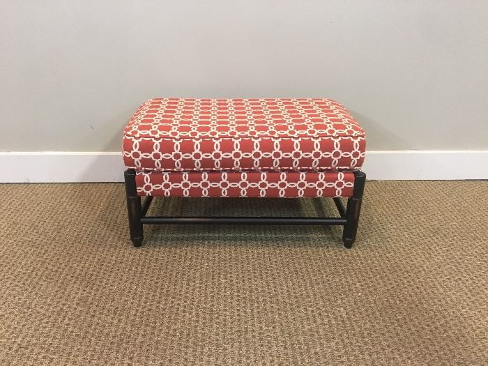 Rectangular Orange Ottoman