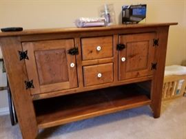Amish solid wood cabinet buffet