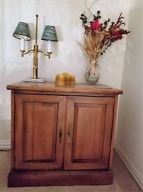 Amish solid wood chest.  Variety of lamps