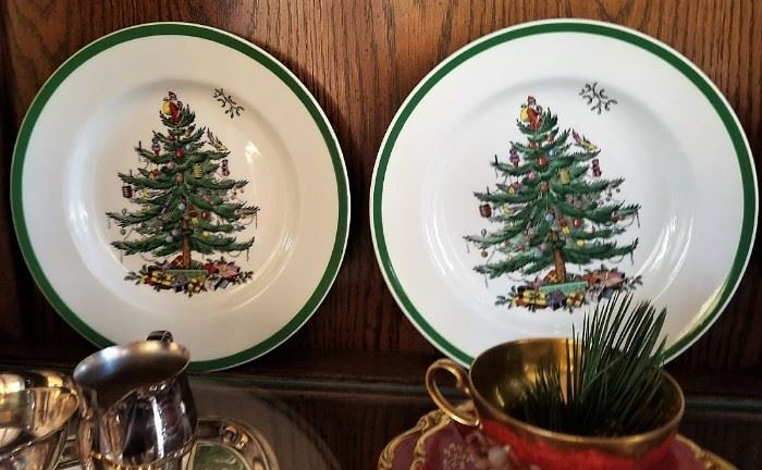 China Christmas Spode dish plates