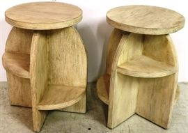 Sarreid wood stools
