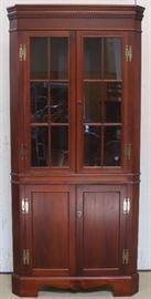 Craftique corner cupboard