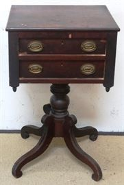 Early 2 drawer Federal stand