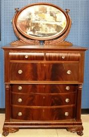 Empire chest of drawers with mirror